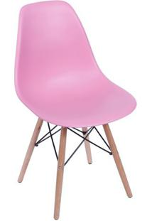 Cadeira Eames Dkr- Rosa & Bege Claro- 80,5X46,5X42Cmor Design