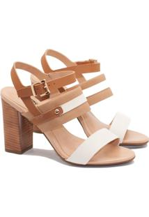 Sandalias Saltare 49822 Pessego 35 - Feminino