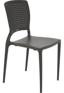 Cadeira Safira Em Polipropileno Tramontina Marrom