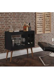 Aparador Bar Com Adega Coffee Break - Preto - Rpm Mã³Veis - Incolor - Dafiti