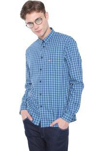 Camisa Tommy Jeans Reta Gingham Verde/Azul