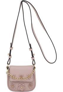 Mini Bolsa Smartbag Flower - Feminino-Nude