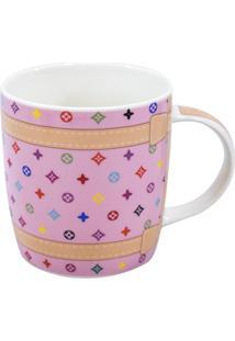 Caneca Minas De Presentes Porcelana Rosa