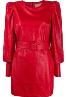 Andamane Carolina Mini Dress - Vermelho