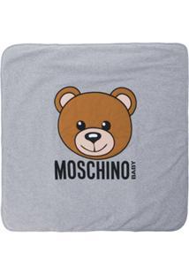Moschino Kids Cobertor Com Estampa - Cinza
