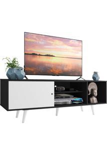 Rack Madesa Dubai Para Tv Até 65 Polegadas Com Pés - Preto/Branco/Branco Preto