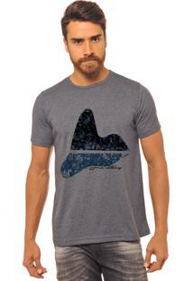 Camiseta Chumbo Estampada Masculina Joss - Corcovado Espelhado