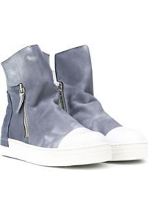 Cinzia Araia Kids Ankle Boot Com Zíper Lateral - Azul