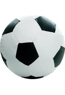 Puff Ball Futebol Infantil Pop Cipaflex Branco E Preto Stay Puff