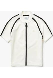 Camisa Polo Lacoste Live Slim Fit Feminina - Feminino-Branco+Preto