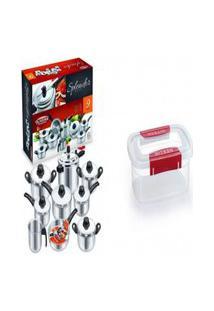 Kit Conjunto 9 Panelas + Pote Plástico Para Microondas 2.1L