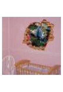 Adesivo De Parede Buraco Falso Infantil Alice - P 45X55Cm