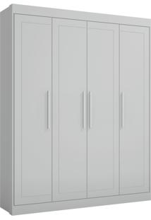 Guarda-Roupa Moka 4 Pts E 3 Gav. Internas Branco 2695.156 Multimóveis