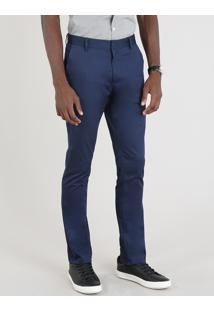 Calça Masculina Social Chino Azul Marinho