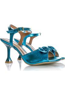 Sandália Natalia Salto Taça Azul - Kanui