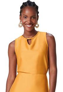 Blusa Amarelo Acetinada