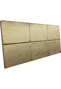 Cabeceira Estofada Solteiro Bloco Alce Couch Veludo Cristal Dourado 90Cm