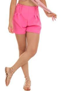 Short Manola Alfaiataria Feminino - Feminino-Pink