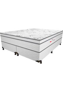 Cama Box Queen Bleach Euro - Pelmex - Branco / Preto
