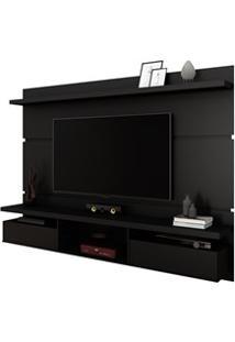 Painel Bancada Suspensa Para Tv Até 60 Pol. 2.2 Lívia H01 Preto Fosco