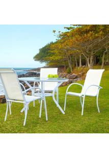 Cadeira Empilhável Mestra Móveis Branco