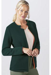 Blazer Com Decote Diferenciado Verde