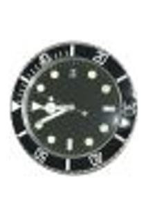 Relógio De Parede Grife Modelo Pulso Preto Metal 34X34 Cm