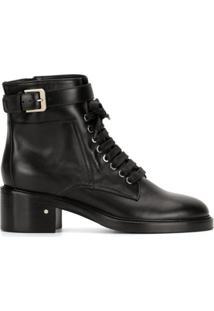 Laurence Dacade Ankle Boot Solene Com Cadarço - Preto