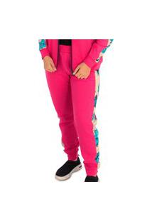 Calça Recortes Matelassê Pink