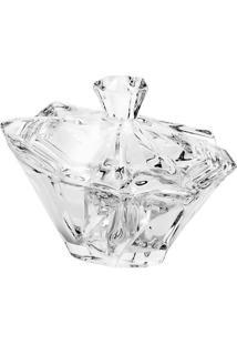 Bomboniere Com Tampa Angle- Cristal- 12X14,5X10,5Cmrojemac