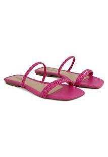 Rasteirinha Feminina Rosa - Pink Confortável Sandália