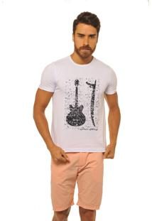 Camiseta Joss Premium New Guitarra Prancha Branco
