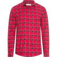 Camisa Masculina Xadrez Flanela - Vermelho 10df6a76e3c81