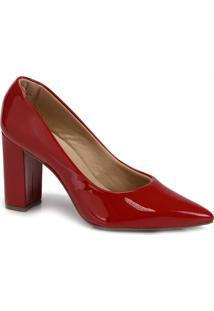 d13561212 Passarela. Sapato Feminino Verniz Passarela Vermelho Scarpin ...