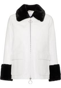 Stand Studio Jayden Faux Fur Trim Jacket - Branco