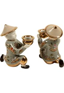 Castiçal Decorativo De Porcelana Mariamman