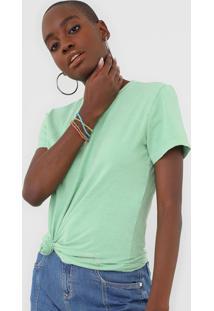 Camiseta Morena Rosa Carimbo Verde - Verde - Feminino - Algodã£O - Dafiti