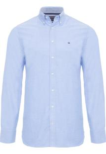 Camisa Masculina Custom Light - Azul