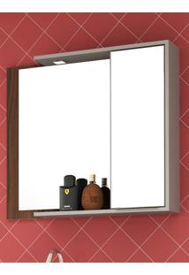 Armário Para Banheiro Lazio Nogal Malaga/Argento Bosi