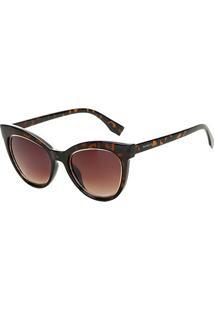 b8820f243 R$ 79,99. Zattini Óculos De Sol Marielas Gatinho Tartaruga B88 1220 Feminino  - Feminino-Marrom