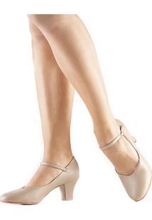 Sapato Dança De Salão Só Dança Napa Ch52 Salto 5Cm Bege