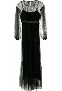 Andrea Bogosian Vestido Longo Soacha Couture - Preto