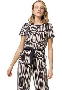 Blusa Mx Fashion Estampada Junior Preto/Vinho