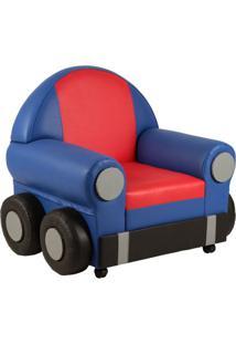 Poltrona Infantil Car Azul E Vermelho