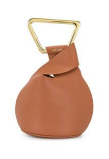Cult Gaia Astraea Mini Top Handle Bag - Marrom