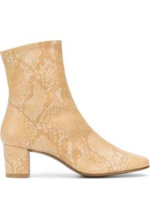 By Far Ankle Boot Sofia Com Efeito De Pele De Cobra - Neutro