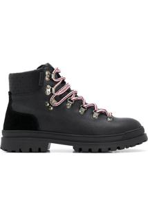 Moncler Ankle Boot Blanche - Preto