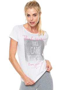 Camiseta Malwee Liberta Think Pink Branca