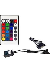 Controlador Rgb Para Cooler E Fita Led Alseye - Com 4 Conectores - Controle Remoto - Ic-R4