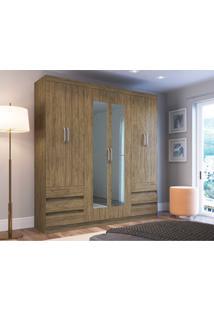 Guarda Roupas 6 Portas 6 Gavetass C/ Espelho Wood Decibal Moveis - Tricae